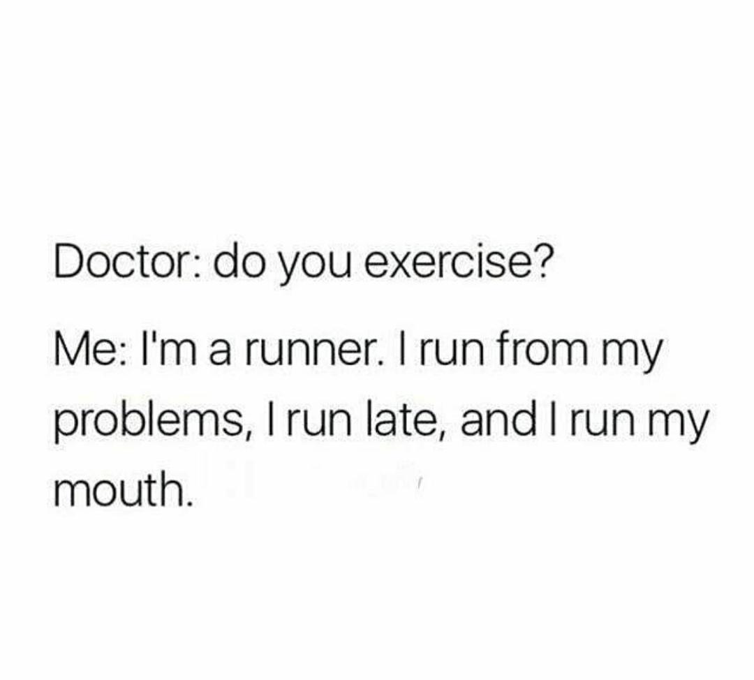I run - meme