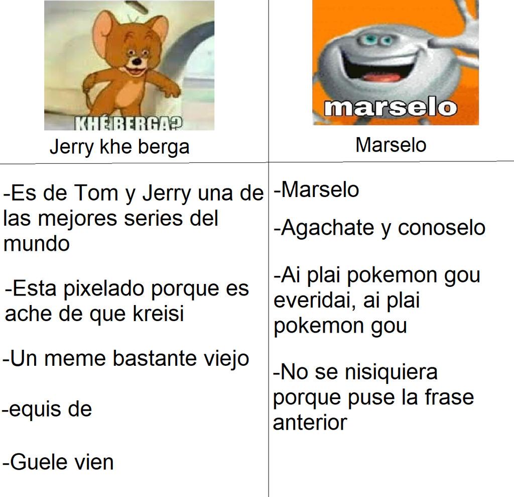 Jerry khe berga vs Marselo - meme