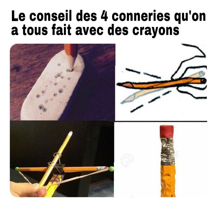 like si toi aussi t'as bouffé des crayons - meme