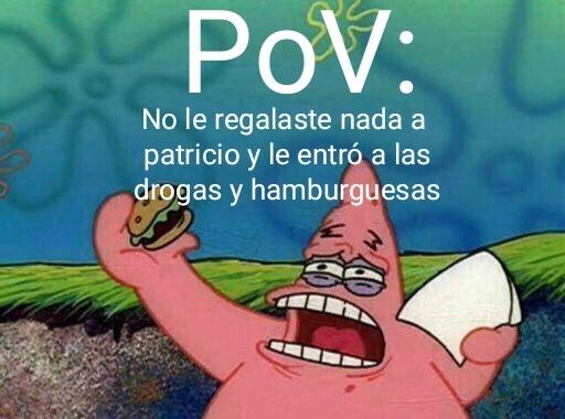 F patricio - meme