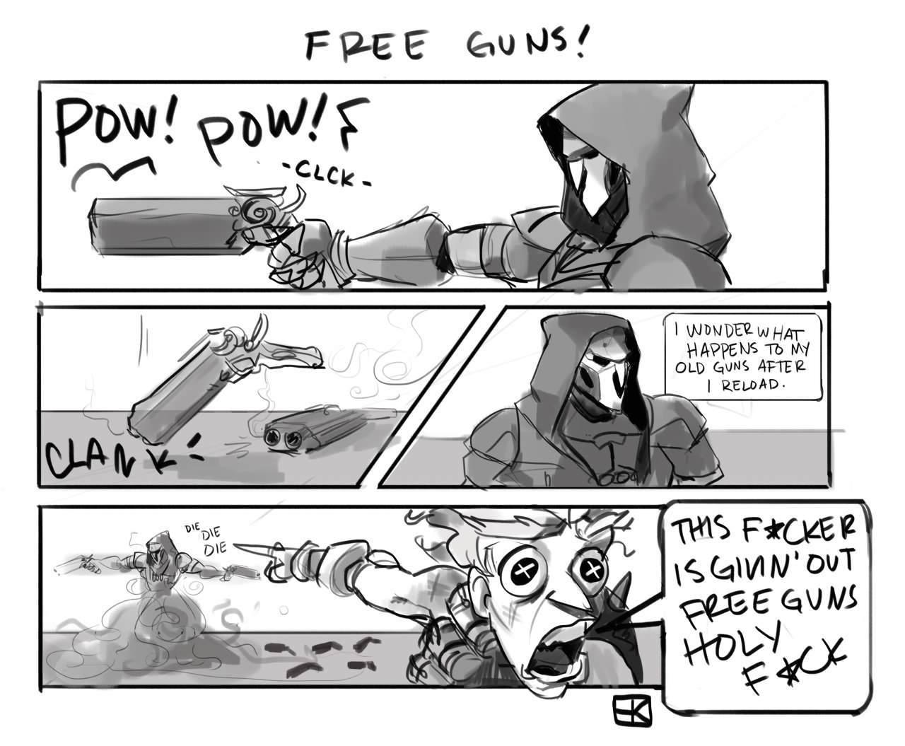 3rd comment gets a gun - meme
