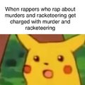 When rappers who rap about murders and racketeering get charged with murder and racketeering