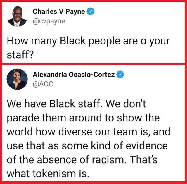 How many black people are on your staff? - meme