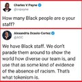 How many black people are on your staff?