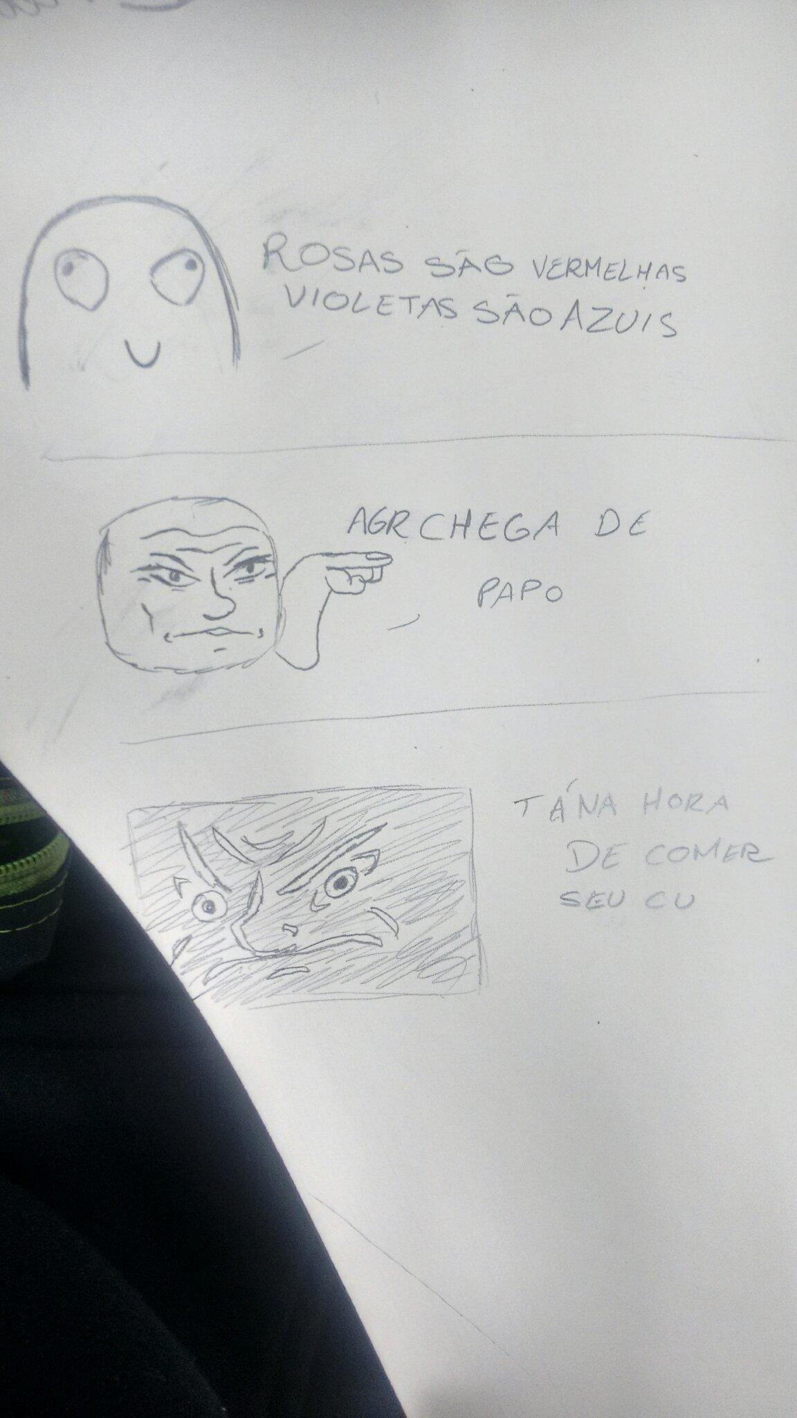 Fiz na mesa kkkkk - meme