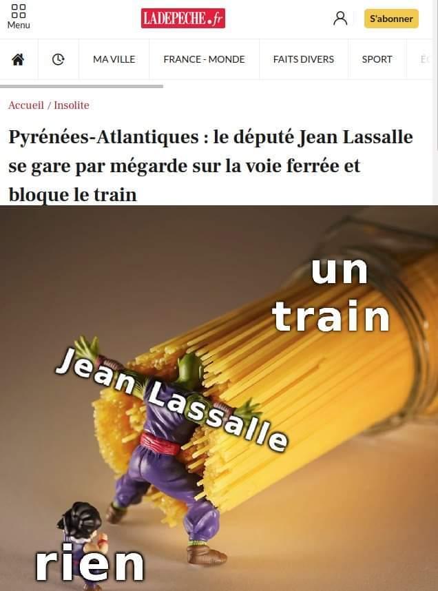 Je complète la news de Jean Lassalle (cet héros !) qui vient de passer sur memedroid