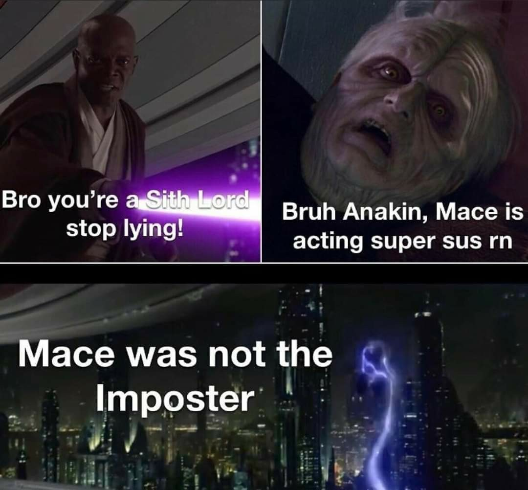 Mace is sus - meme