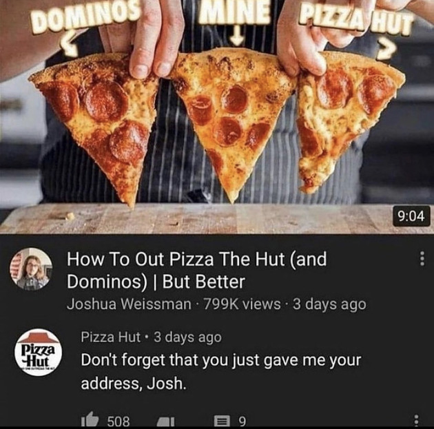 NO ONE out-pizzas the hut - meme