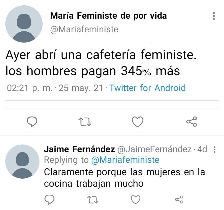 Feministas a su sitio - meme