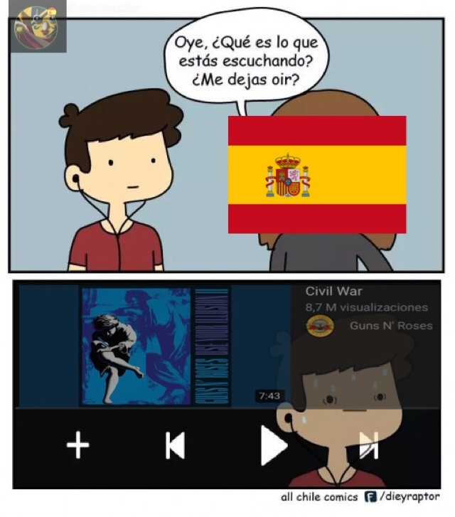 Sogeking PD: España ha tenido 11 guerras civiles. - meme