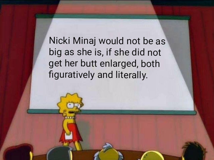 The women who make it in rap are generally thick - meme