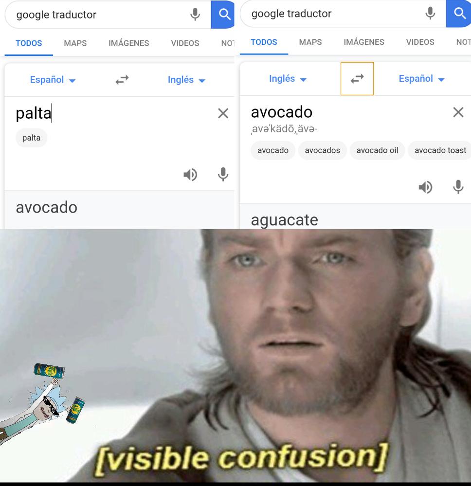 PALTA,AVOCADO,AGUACATO - meme