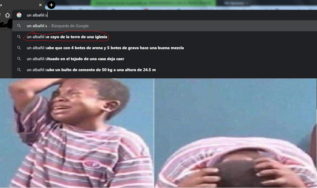 f por el albañil - meme