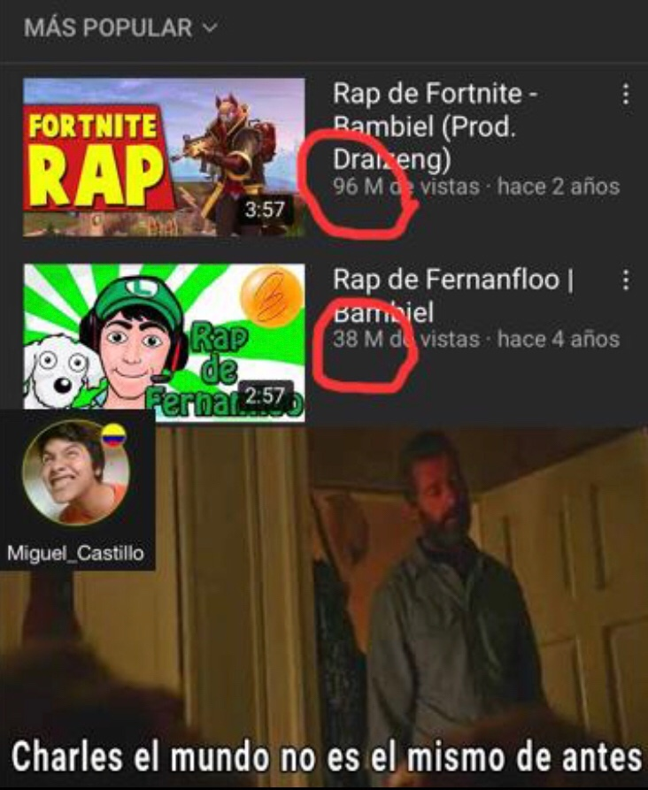 El rap de Fernanfloo, el rap de Fernanfloo, el rap de Fernan floo X5 - meme