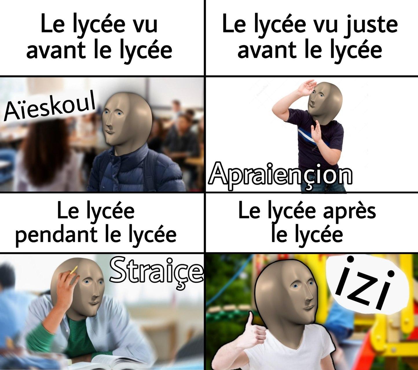 Haha aïeskoul goes brrr - meme