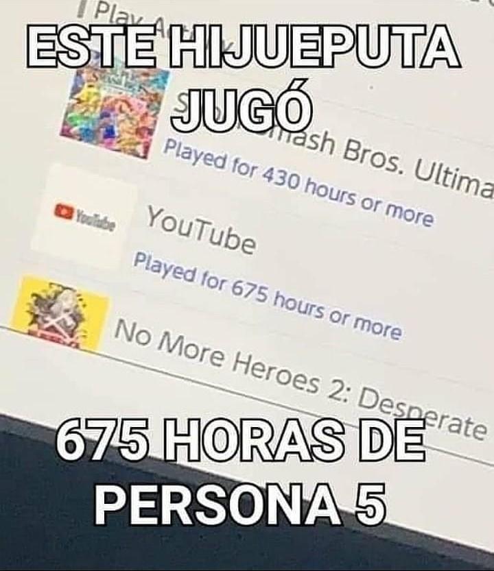 Persona 5 bad - meme