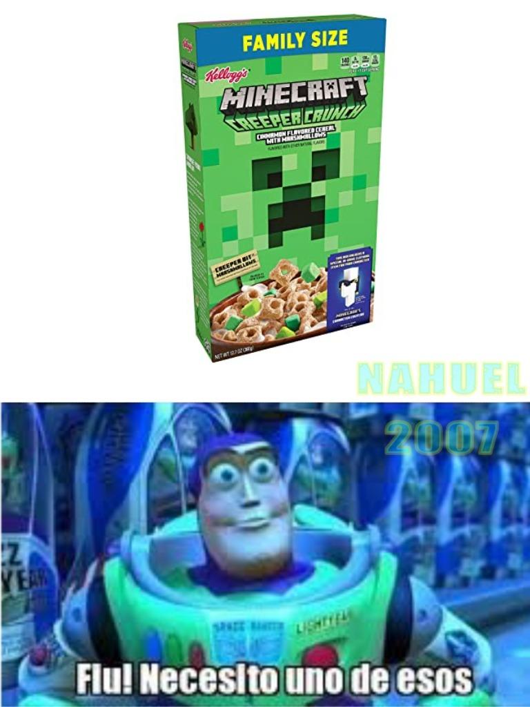 ¿¿¿Cereal de minecraft??? - meme