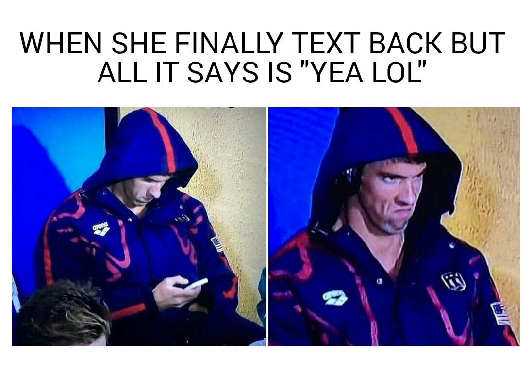 Original Phelps face meme, fresh out the factory
