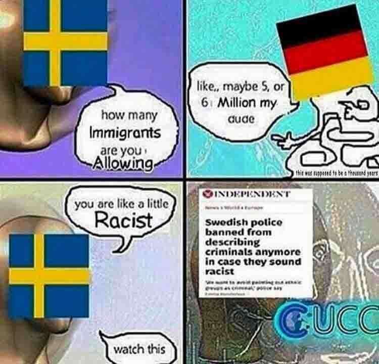 Sweden to possibly be a third world country by 2030 - meme