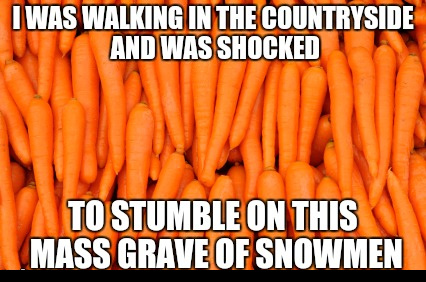 The carrots are taking over - meme