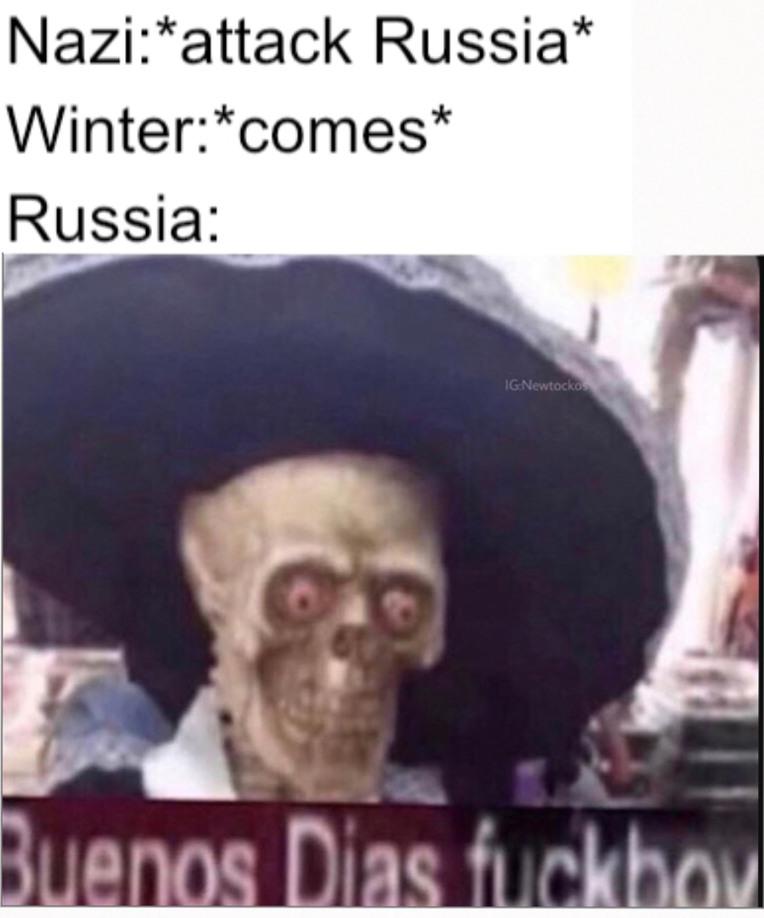 Damn winter - meme