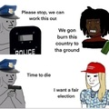 Police in a nutshell (also how the media acts too)
