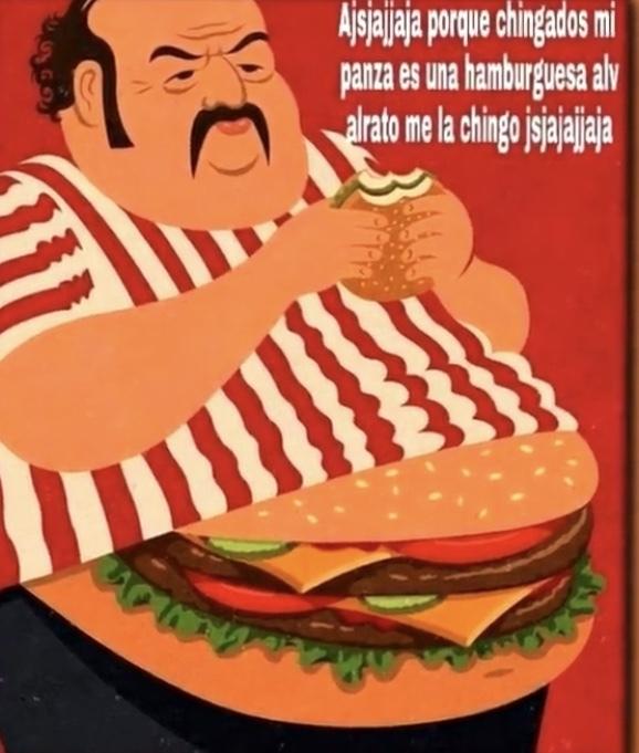 El título se fue a comer la hamburguesa - meme