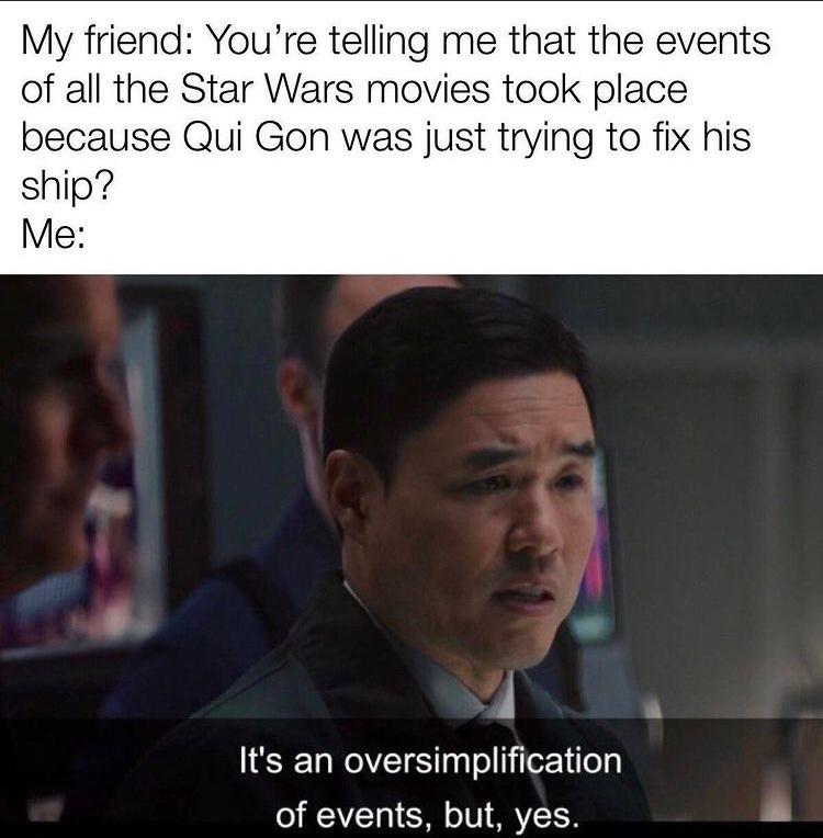 big brain Star Wars time - meme