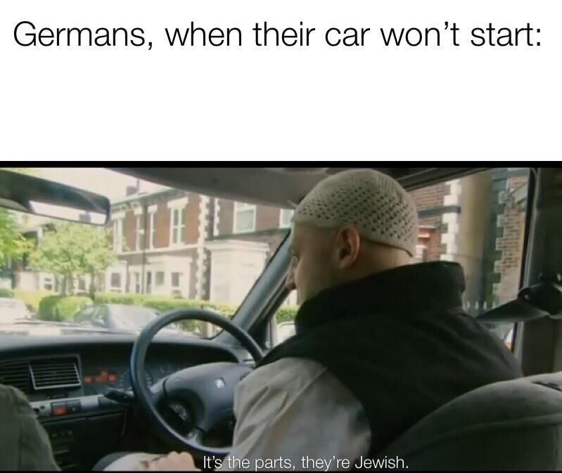 put a jew in the exhaust - meme