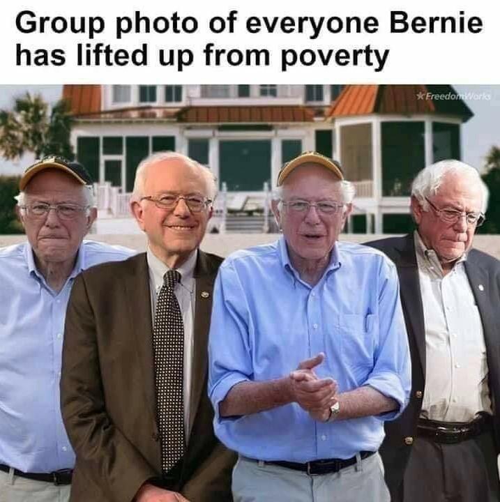 Bernie cant stop debt - meme