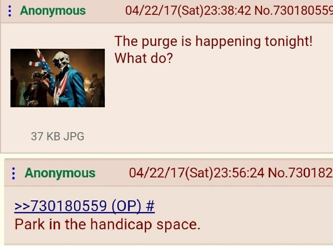 Title is a purge - meme