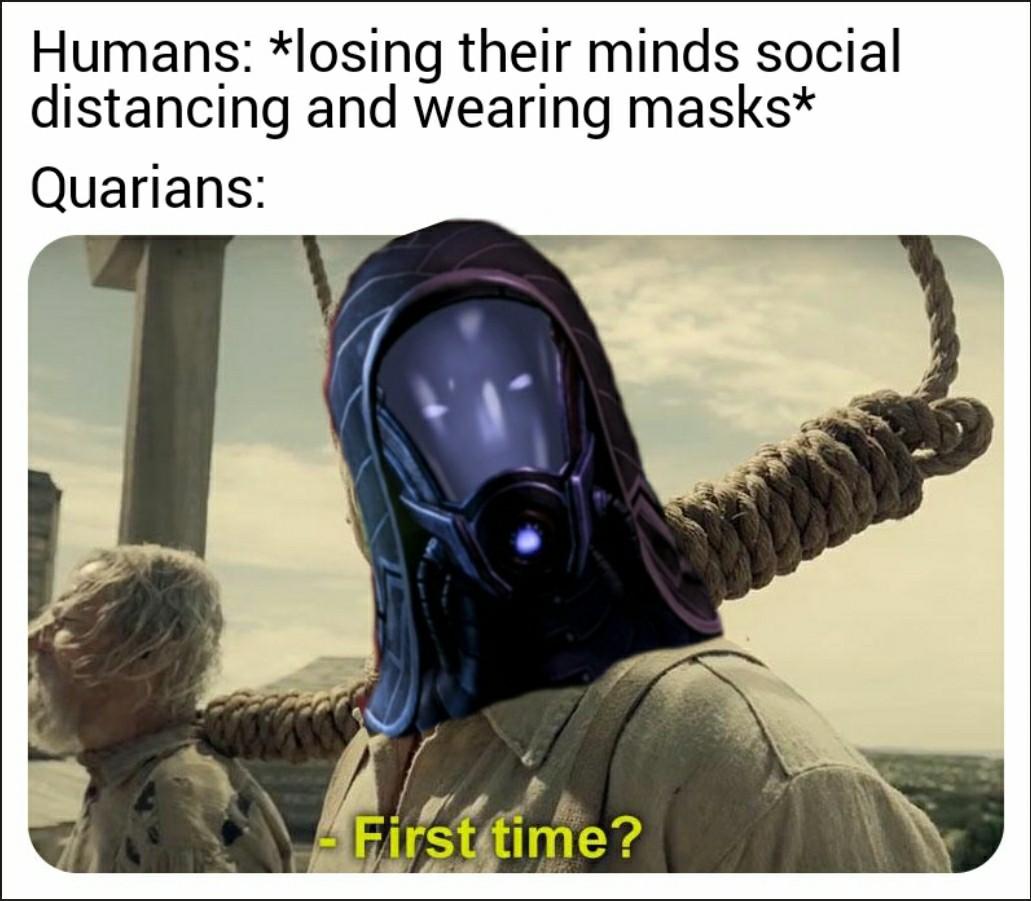Quarian love is dangerous - meme