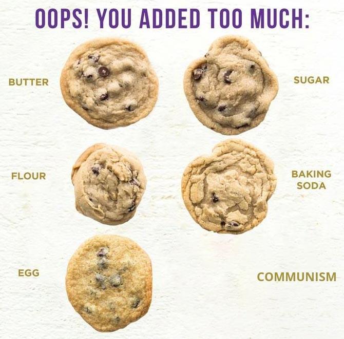 Pas de démocratie, pas de cookie - meme
