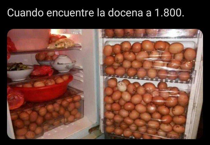 la docena de huevos - meme