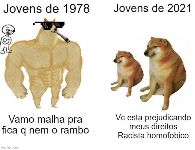 Cachorros de cada tempo - meme