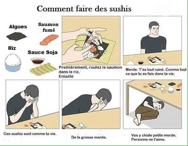 ta vie = sushi - meme