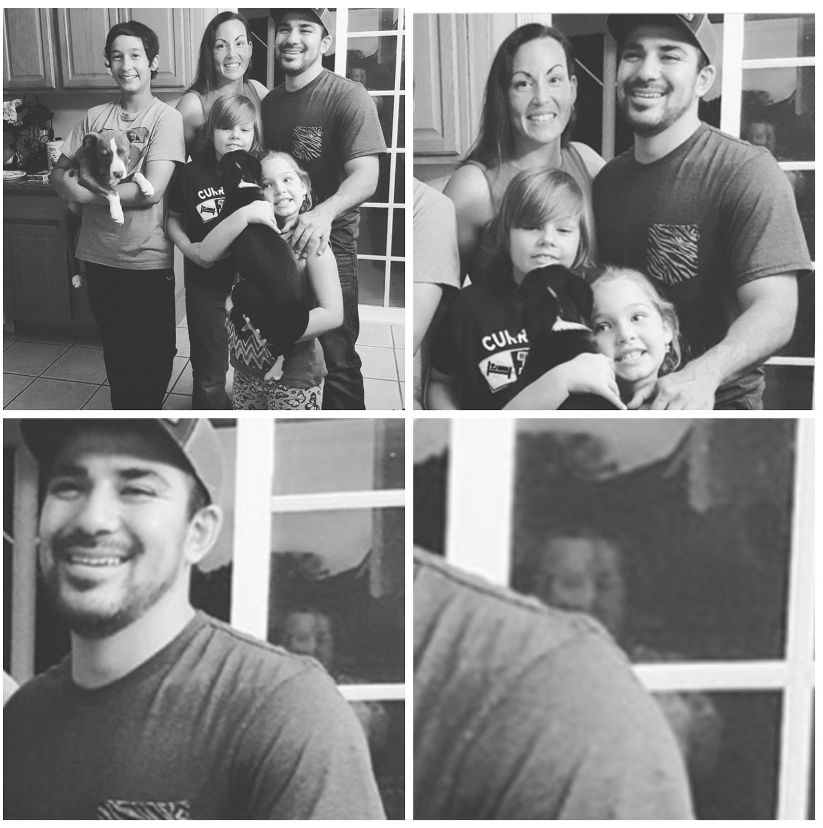 This is me and my fam, i just realized their was a stranger in our backyard - meme