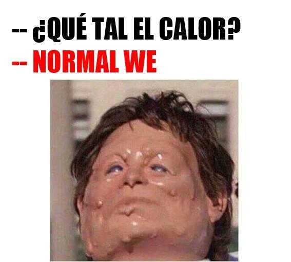 el calor en argentina - meme
