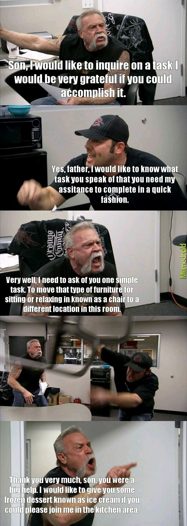 Chair argument. - meme
