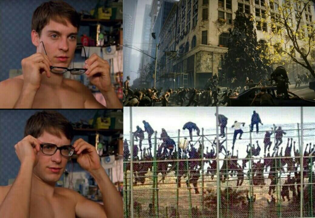 Guerra mundial Z vercion inmigrante - meme