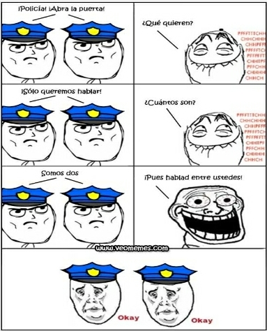 Policías - meme