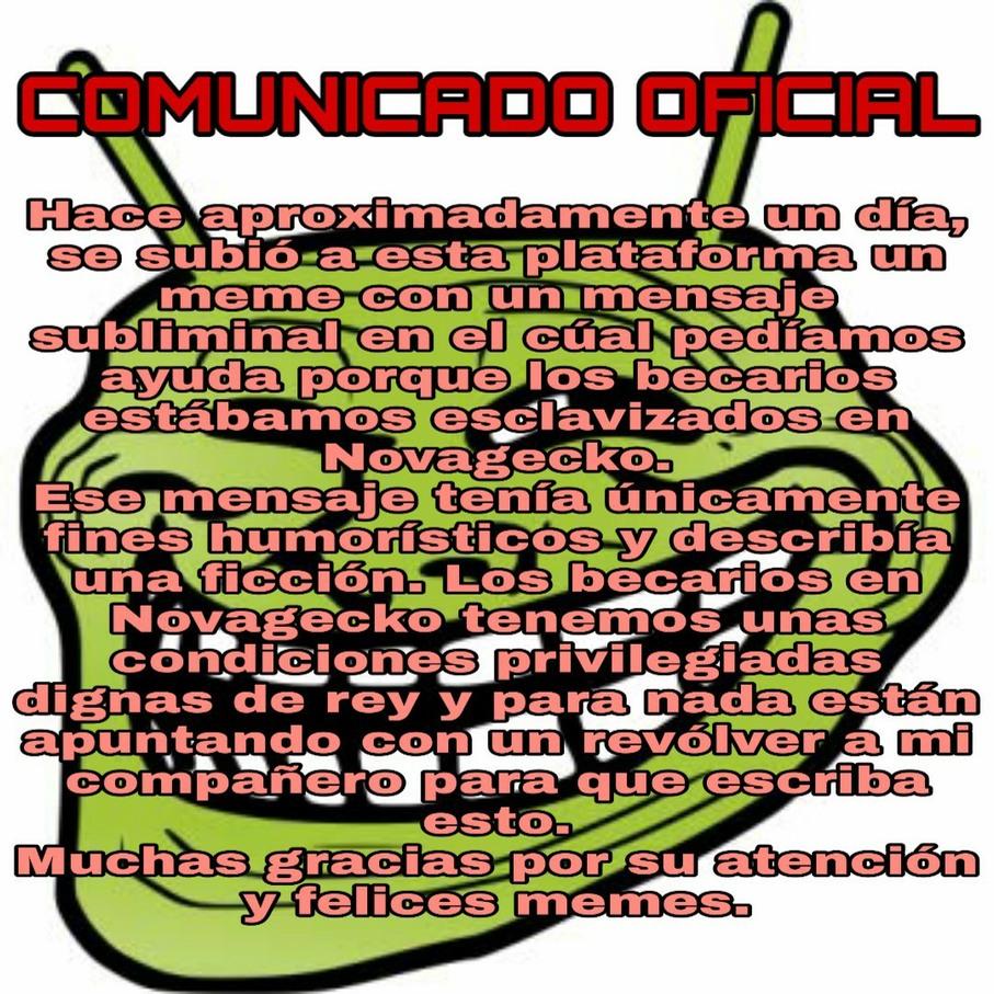 Comunicado oficial - meme