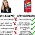 Girlfriend vs Sprite Cranberry