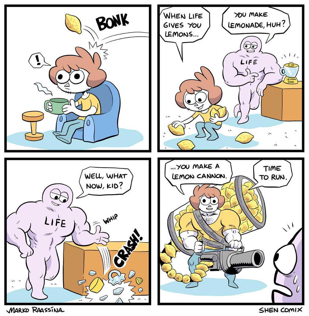 When life gives you lemons you make... - meme