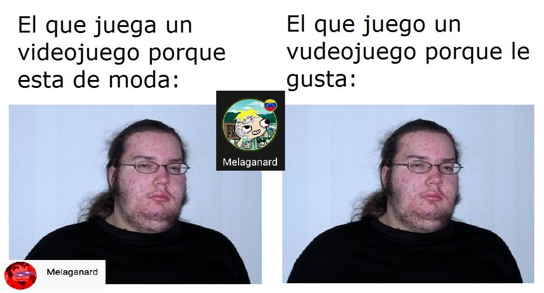 Gordo friki normie VS Gordo friki gamer - meme
