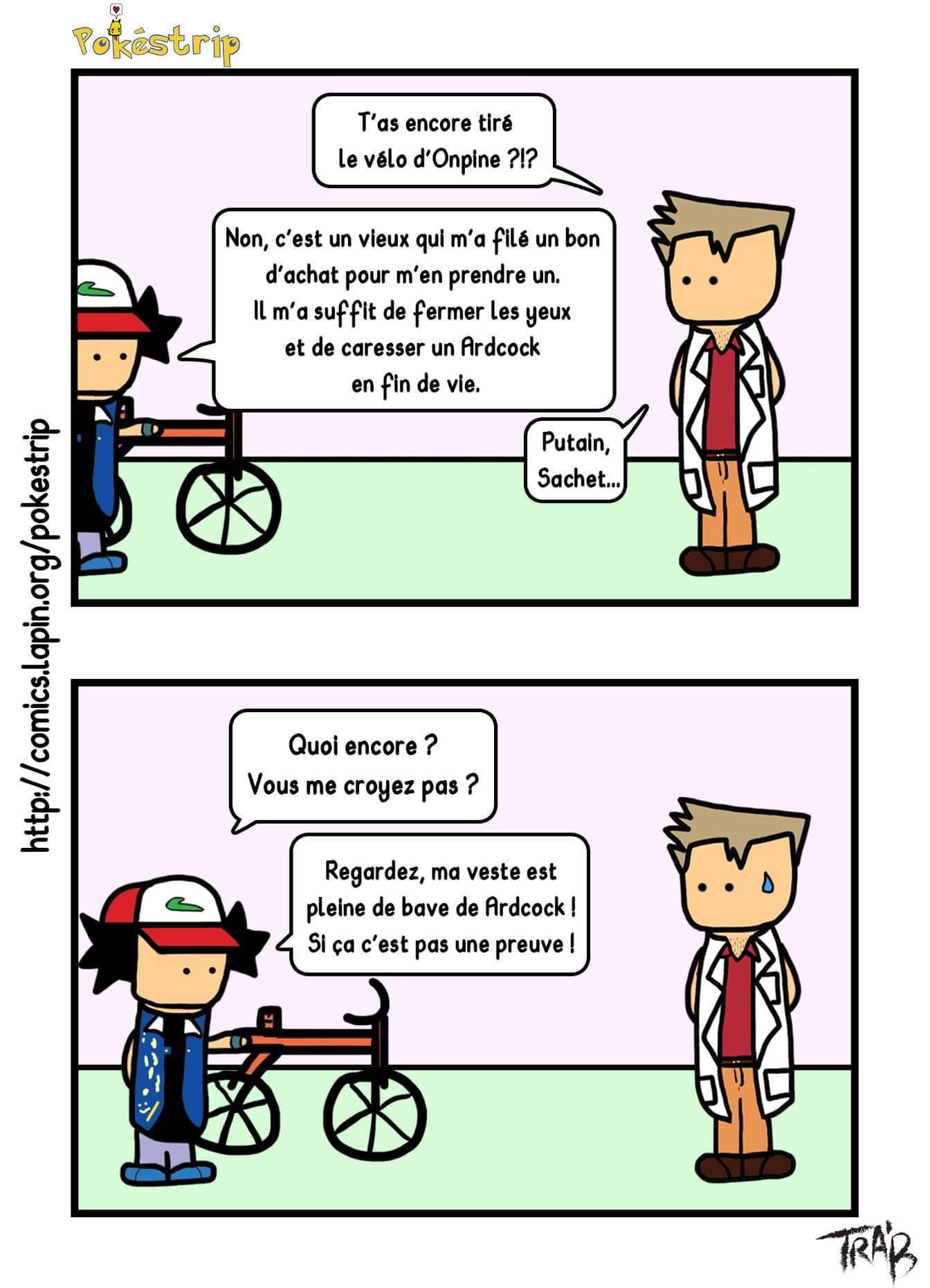 Sachet et son vélo - meme