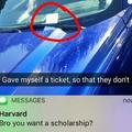 Give yourself a ticket so that they don't