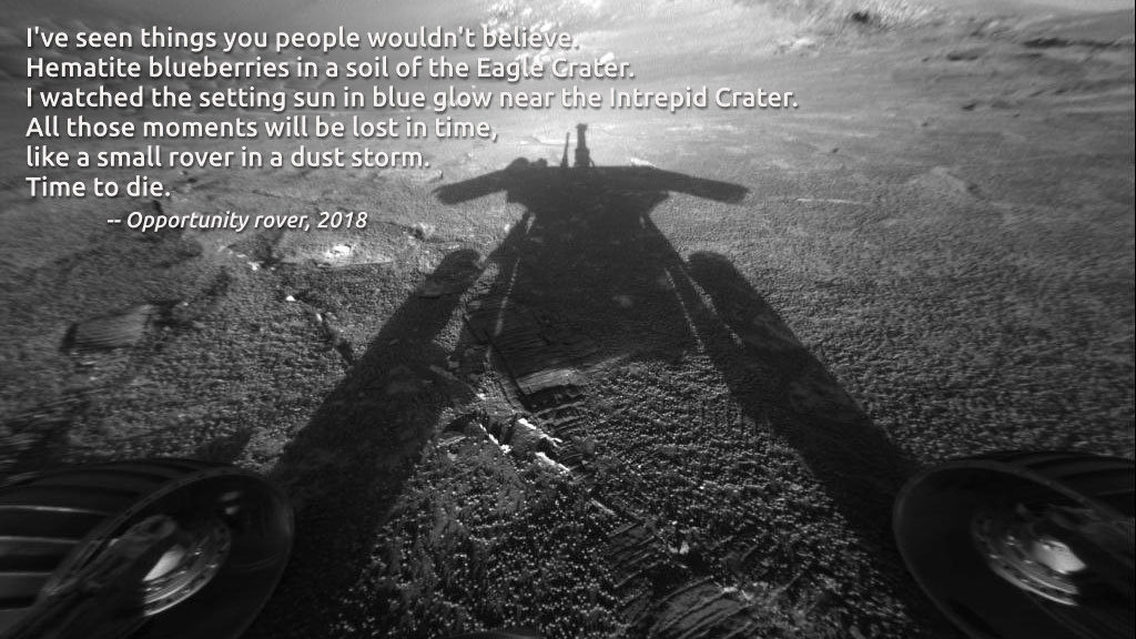 Opportunity: Like a rover in a dust storm - meme