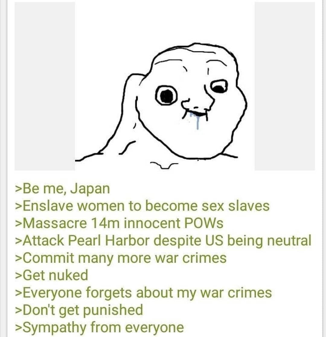 Japan was just as bad as the Nazi's, worse in some ways - meme