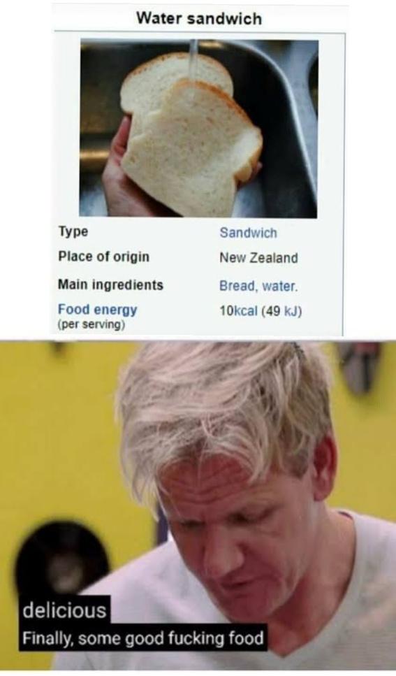 That's some gourmet shit - meme
